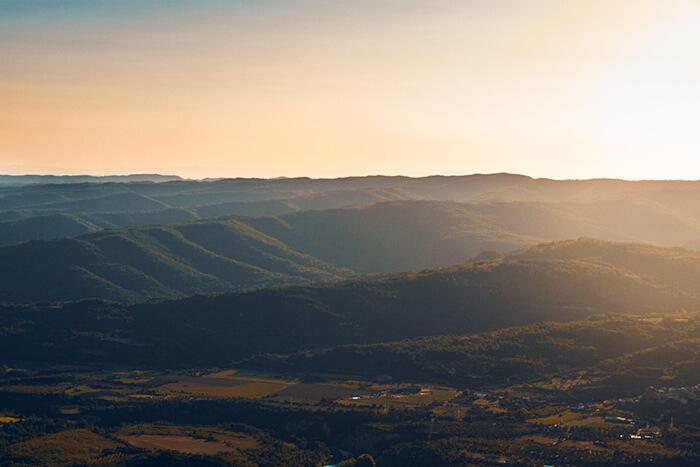Paisaje puesta de sol