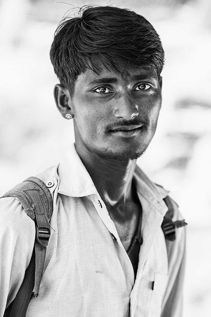 Retrato chico indio