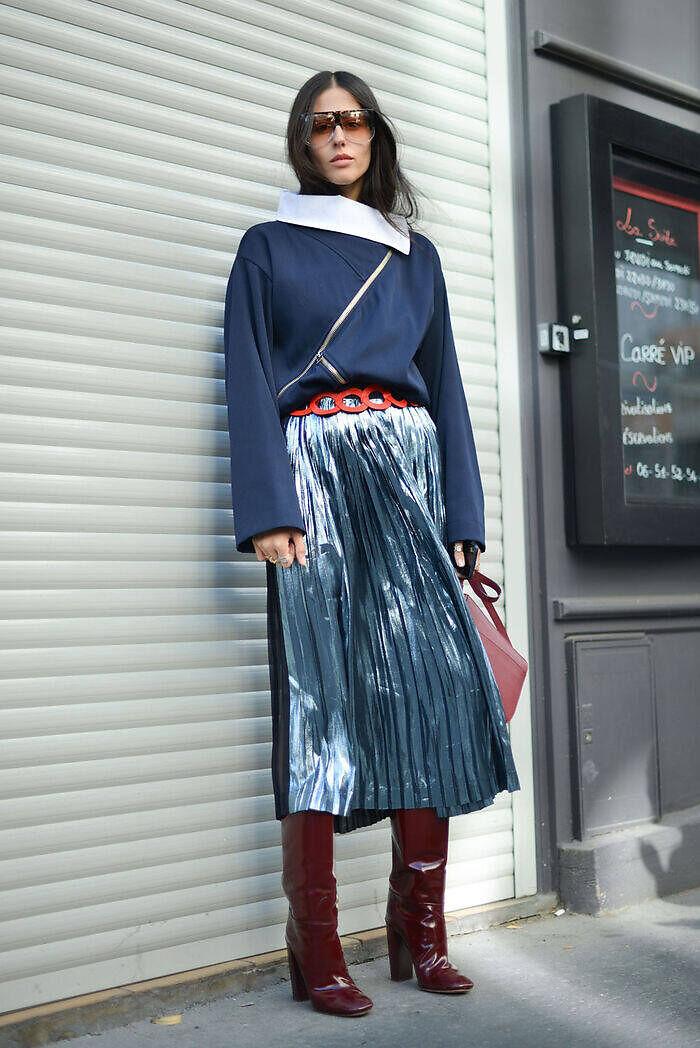 Falda metalizada