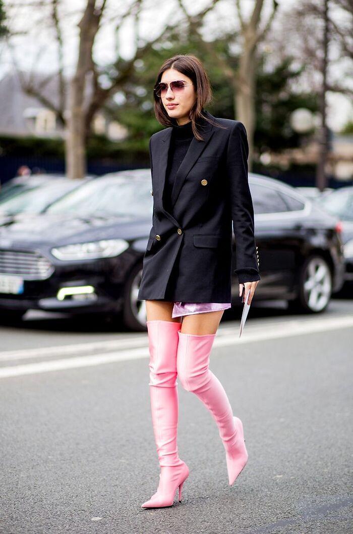 Look con botas altas
