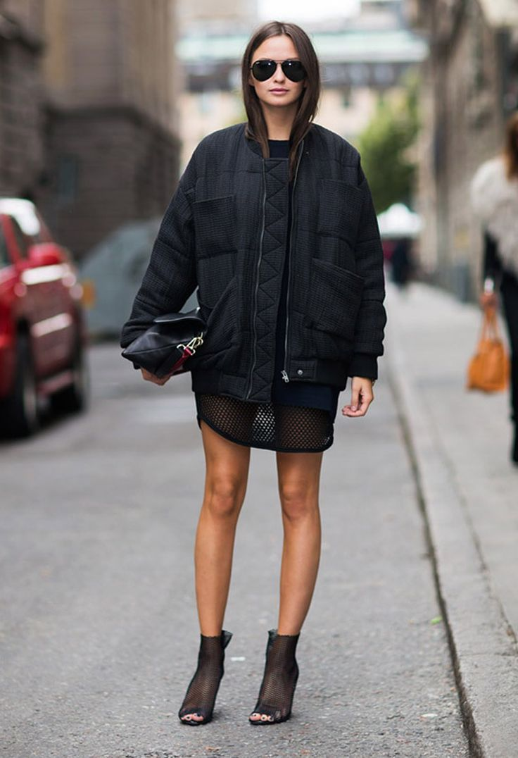 mesh-dress-and-bomber-jacket