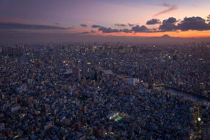 Puesta de sol Tokio