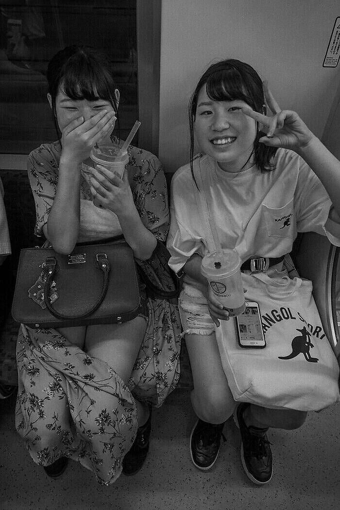 Japonesas en el metro