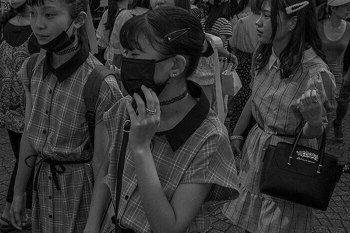 Japonesas con mascarilla