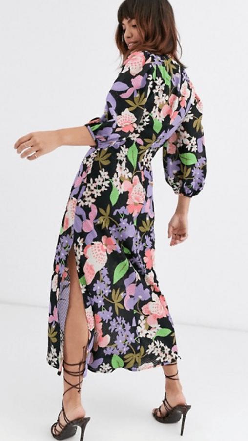 Vestido de flores de Asos