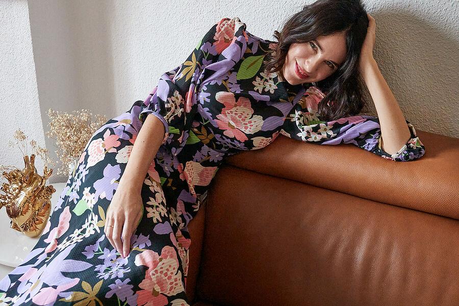 Vestido de flores Asos