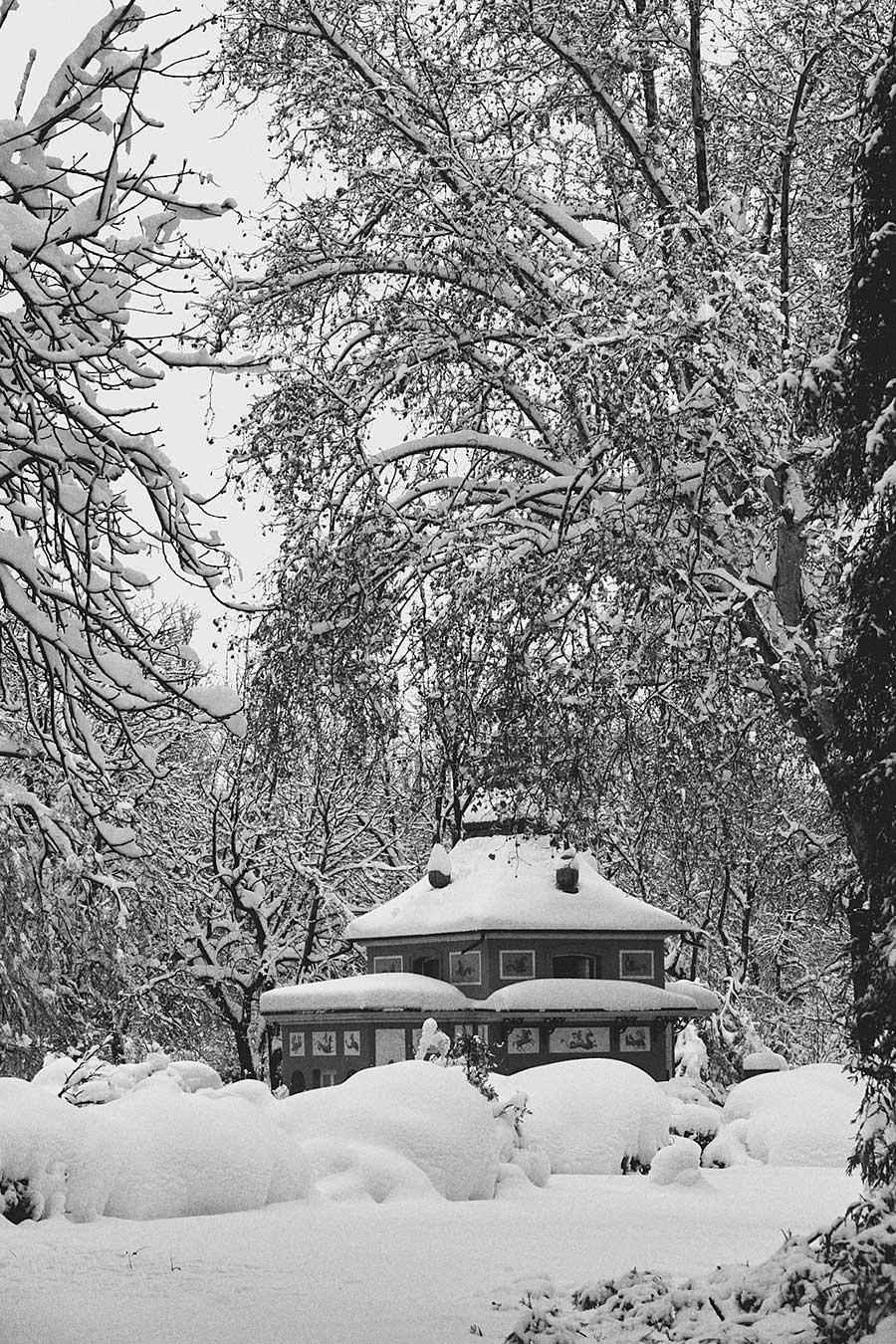 Parque del Buen Retiro con nieve