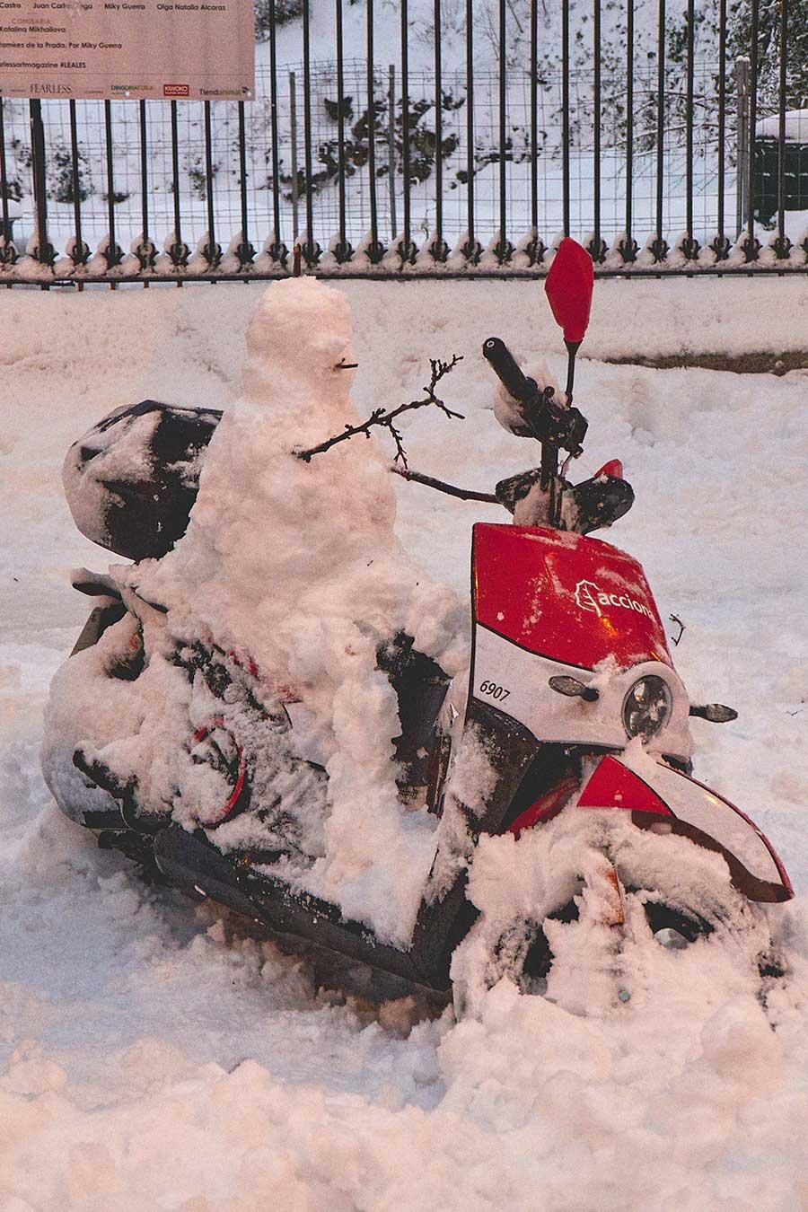 Muñeco de nieve Madrid