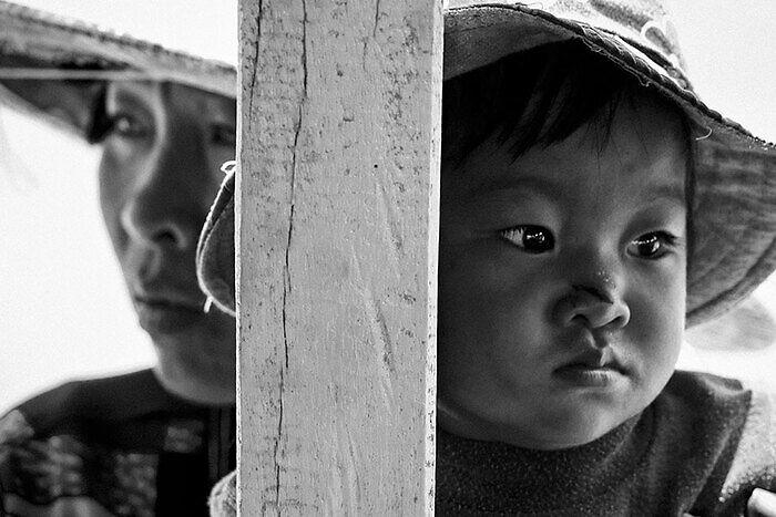 Foto en blanco y negro de Jose Luis Tabueña