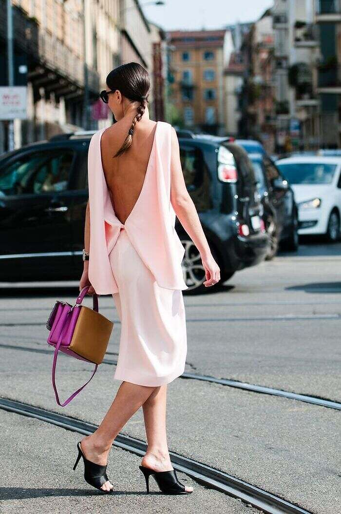 backless dress style