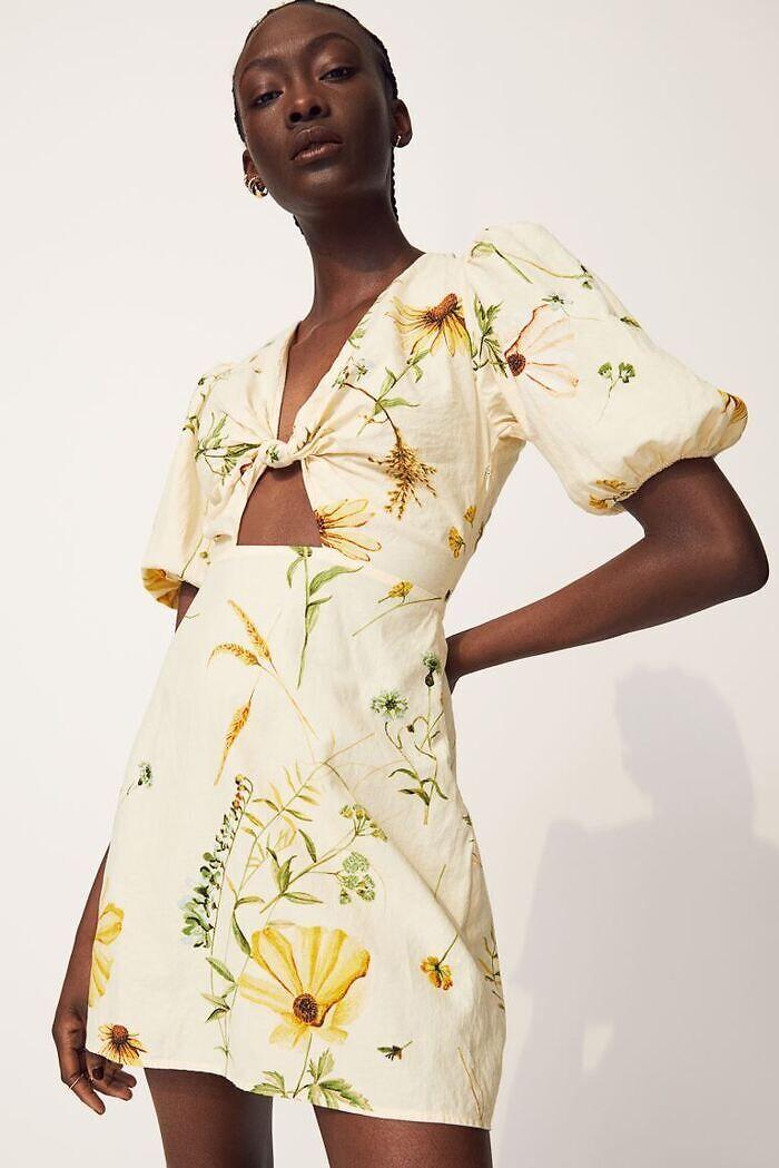 Vestido flores sostenible
