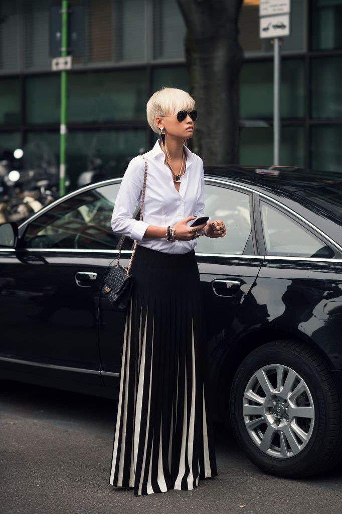 Falda larga elegante