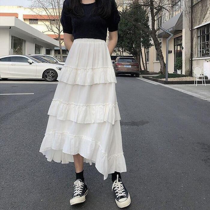 Falda romántica